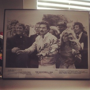 yes, that's an autographed photo of Burt Reynolds in my office