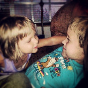 from the archives...sibling love.