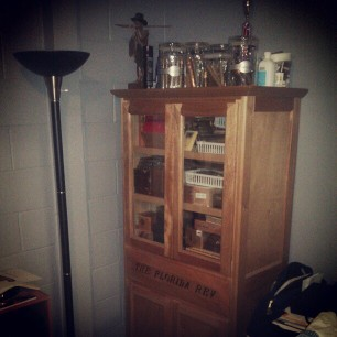so dremeda thought I was kidding when I said my dad's humidor was a China cabinet