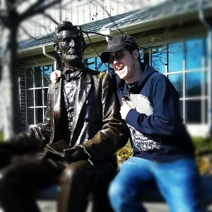 kickin it with Abe