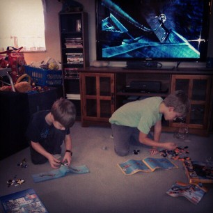 Lego jams for the boys. they've been quiet for almost an hour now.