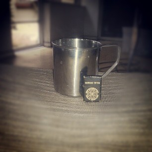 today's coffee consumption vessel. (zippo for context)