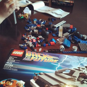 me and Littleman having a Lego party. as you do.