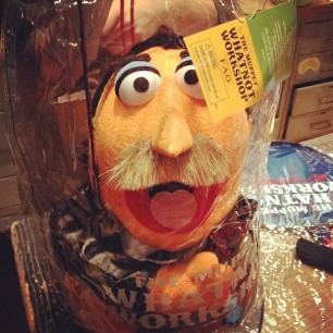 so...how many of your spouses have gotten you a FUCKIN BURT REYNOLDS MUPPET? what? none? just mine?