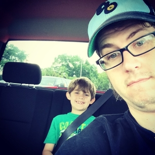 riding out for haircuts with littleman