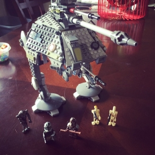another successful Lego Saturday: Star Wars AT-AP