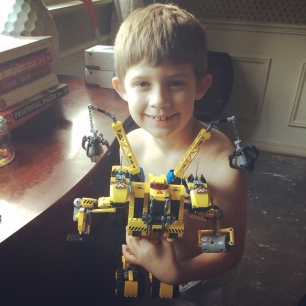 littleman finished another Lego build. he's a damn machine.