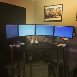 two new monitors (and cables) later, Norcross CommandCenter™ 4.0 is up and running.