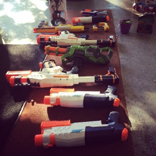 apparently my kids are prepping for the Nerf-acolypse.