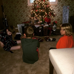 making the kids wait while Grandma gets ready. they are literally vibrating.