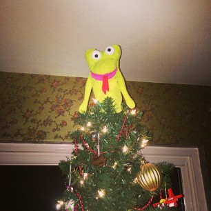it's a tradition. weirdest tree angel ever.