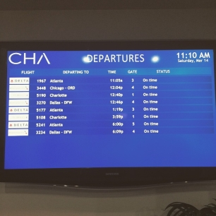 busy flight schedule at Chattanooga Metropolitan Airport.