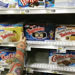 new Twinkie flavors. it's our Sophie's Choice (we went with chocolate filled, btw)