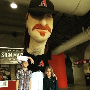 the kids were visited by the ghost head of Randy Johnson