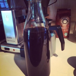 whippin' up some cold brew coffee. 'tis the season.  I made a quick calculator with the recipe here: http://norcross.co/cc