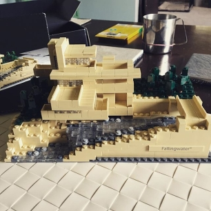 Fallingwater. LEGO. Saturday fun.
