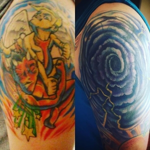 shoulder cover up before and after. nerdneil did a stellar job as always