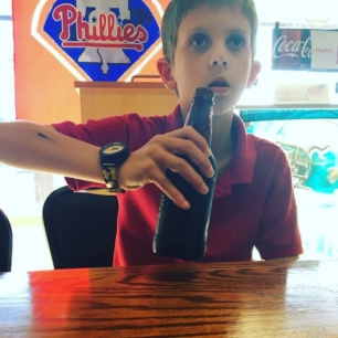 taking the boy out for a cheesesteak and a root beer. TREAT OUR SELVES.