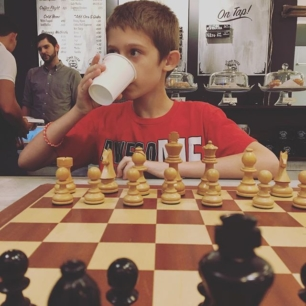 just some Friday night chess and coffee