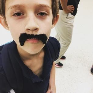 My son... moustache you a question