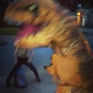when T-Rex attacks!