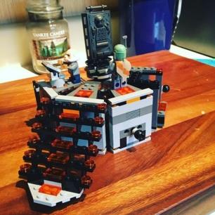 new LEGO build on a rainy day