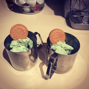 so I made my own Key Lime Oreo sherbet blizzards because DAMN RIGHT!