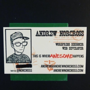 holy shit I found my first business card